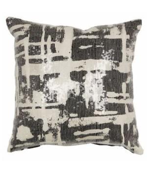 Yorkville Kate Spade Painterly Plaid Black Pillow