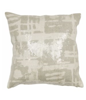 Yorkville Kate Spade Painterly Plaid Platinum Pillow