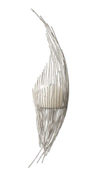 Nickel Dot Wire Wall Sconce