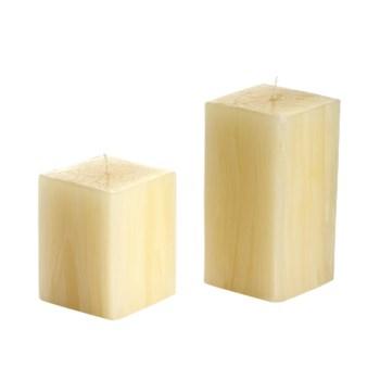 Ivory Wood Candle, Sm