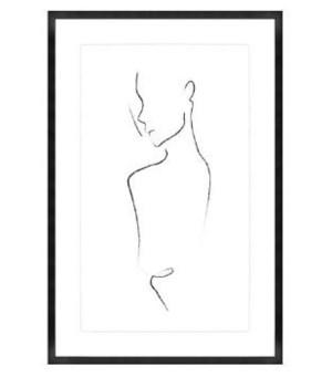 24x36 Ingénue II, Glass Framed, Frame 36PUN1510