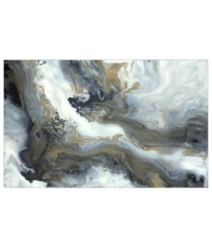38 x 24 Marble Flow I, Hand Embellishment, Frame 36P1705