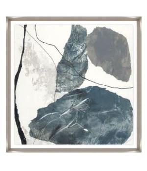 24x24 Quaver I, Glass Framed Hand Embellishment, Frame 36PUN2623