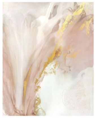 40x50 Heart Blossom, Gild Gold, Frame 36PL433086