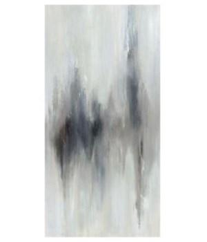 24x48 First Snow I, Hand Embellishment, Frame 36P1708