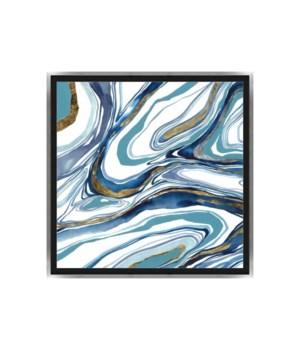 36x36 Curvy Sparkles III, Frame 36P0001N