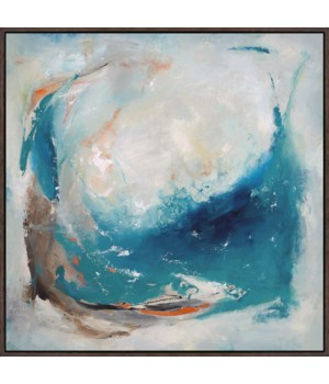 36x36 Blue Abyss, Glass Coat, Frame 36P1705