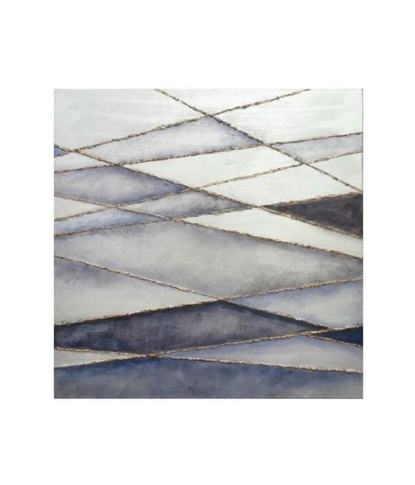 36x36 Linear Crossing III, Frame 36PUEC1608