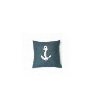 Navy Anchor Pillow