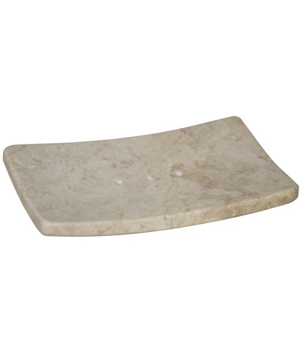 Soap Dish, White Marble