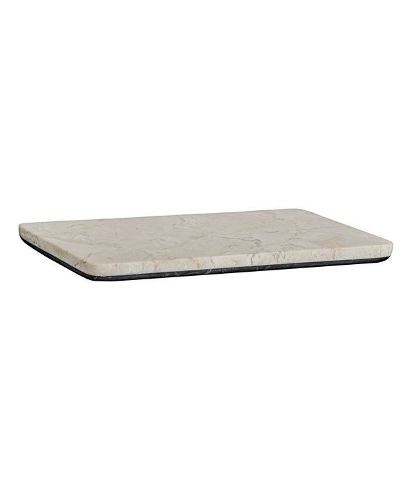 White Marble Tray With Black Marble Base