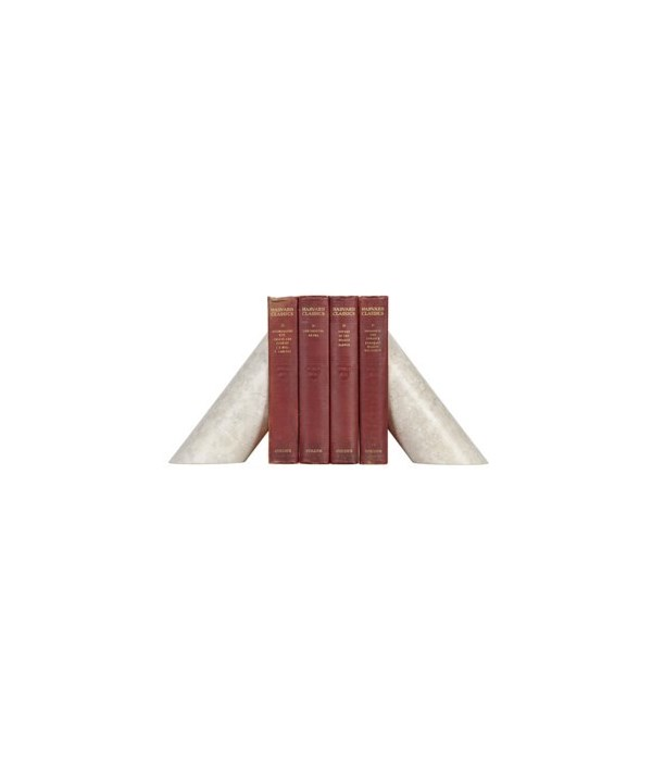 Architectural Bookends, White Marble