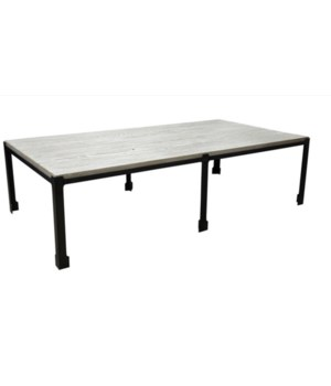 Parker Coffee Table, RL Top, Grey Wash