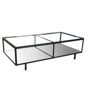 Ambrose Coffee Table, Steel/Glass