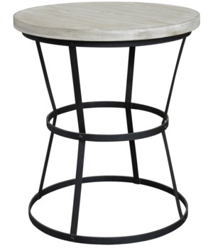 Brookfield Side Table, Gray Wash Wax