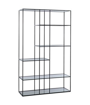 Tulou Shelves, Large, Black Metal