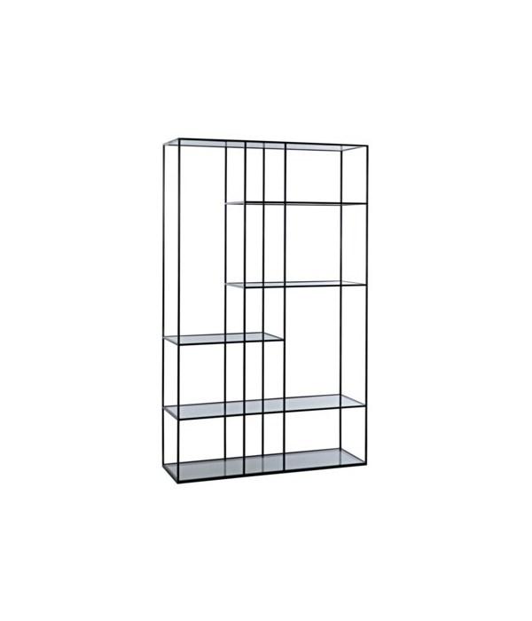 Tulou Shelves, Large, Black Metal