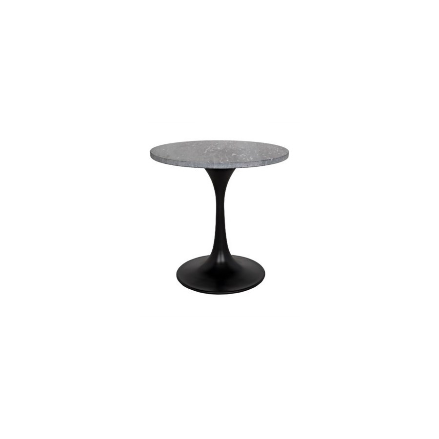 "Laredo 20"" Table, Metal with Black Stone Top"