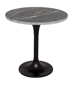 Laredo Table, Metal with Black Stone Top