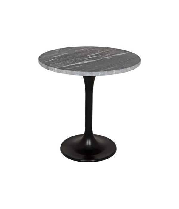 Laredo Table, Metal with Black Stone Top