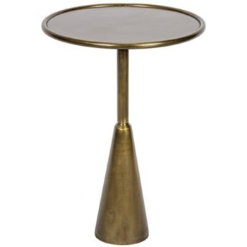 Hiro Side Table, Antique Brass Finish