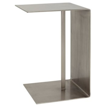 Cham Side Table, Antique Silver