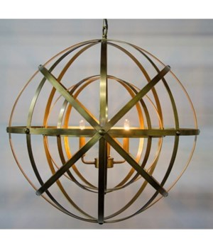 Alchemy Chandelier, Metal w/ Brass Finish