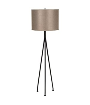 Tripod Floor Lamp, Black Metal