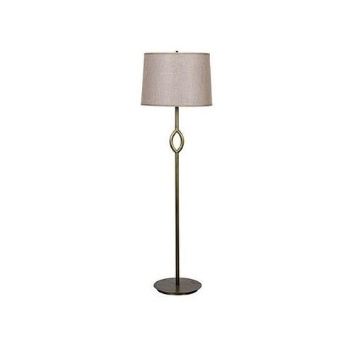 Ridge Floor Lamp, Antique Brass