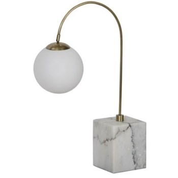 Solidity Table Lamp, Antique Brass, Marble Base