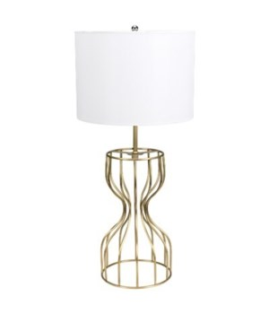 Perry Table Lamp with Shade, Antique Brass