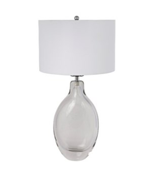 Vertical Ghost Table Lamp with White Shade