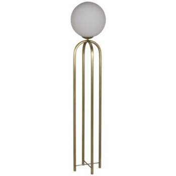 Moriarty Floor Lamp, Antique Brass