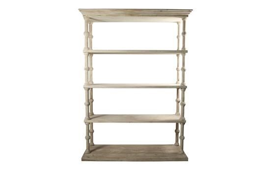 RL Roman Bookcase, Grey Wash