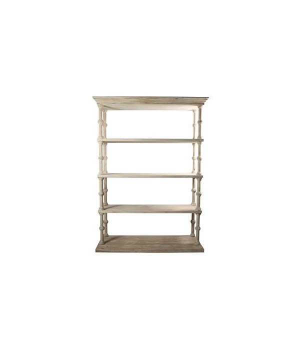 RL Roman Bookcase, Grey Wash