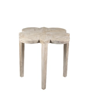 RL Quatre Feuille Side Table, Grey Wash