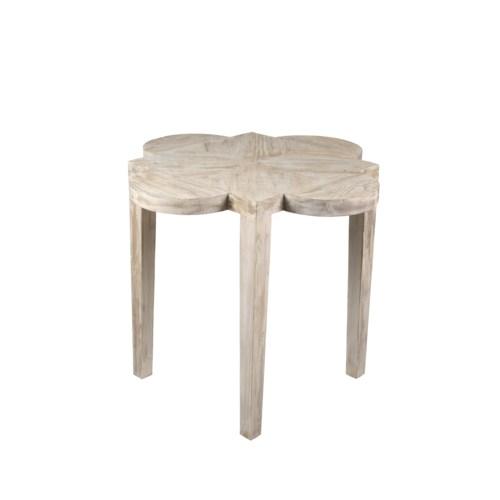 RL Quatre Feuille Side Table, Grey Wash