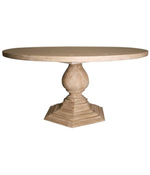 Chelsea Dining Table, Gray Wash Wax