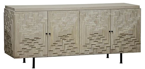 Dinuba Sideboard, Grey Wash Wax