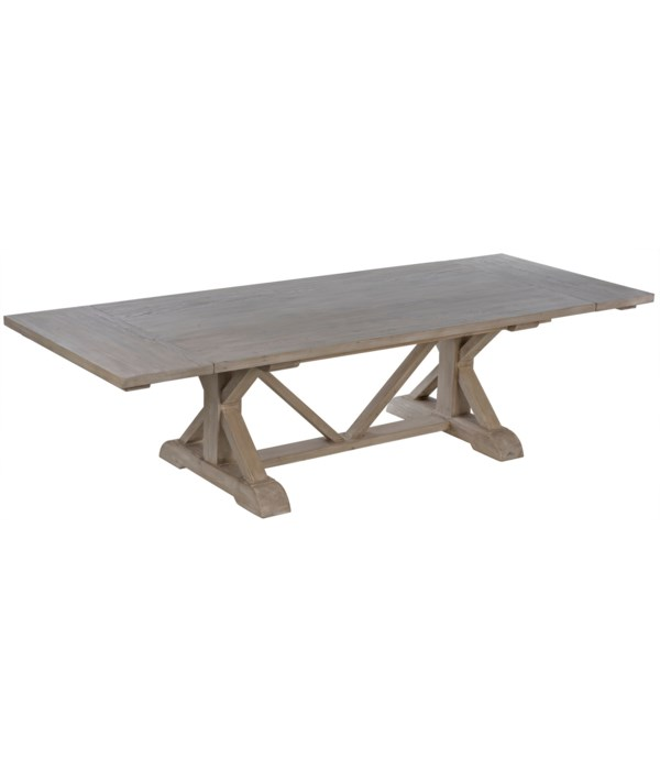 Rosario Extension Dining Table,Gray Wash Wax