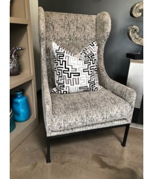 Tall Allende Chair, Steel Frame, Rubble Concrete, Gr B