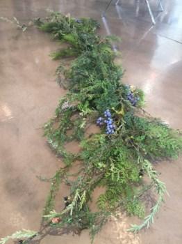 Long Cedar Garland w/ Berries