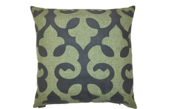 Harlow Square Green Pillow