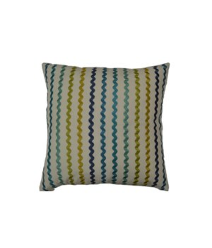 Samba Square Island Blue Pillow