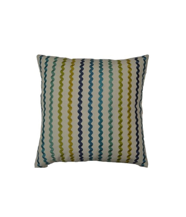 Samba Square Island Blue Pillow