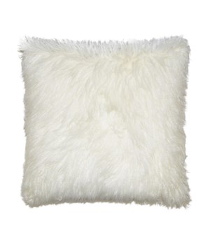 Llama Fur Square Ivory Pillow