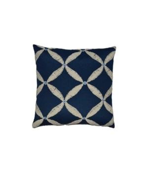 Windward Square Blue Pillow