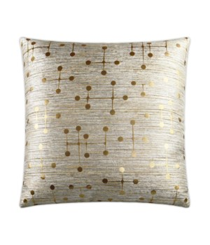 Morse Square Gold Pillow