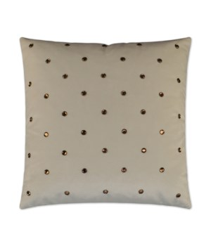 Jewel Square Ivory Pillow