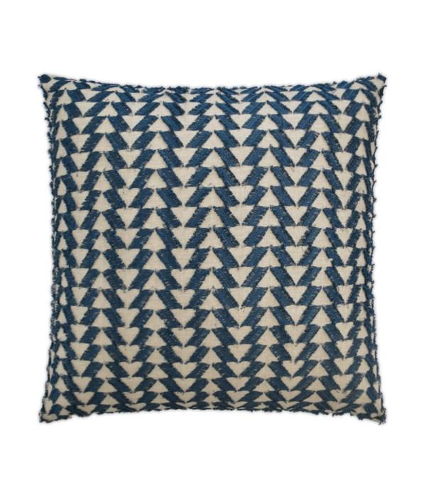 Fringe Benefits Square Indigo Pillow